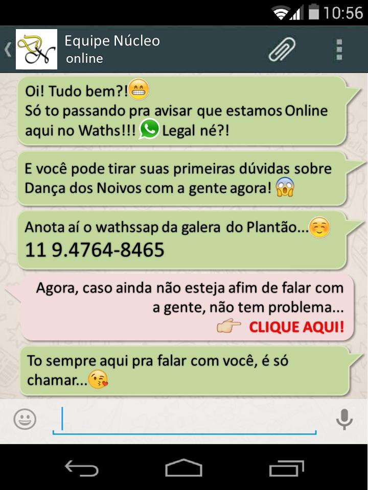Whatsapp do Nucleo de Dança dos Noivos